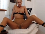 Blonde girl with pantyhose and vibrator