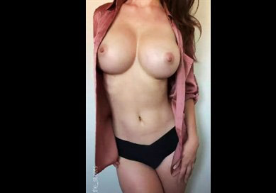 Big tits beauty teases on webcam <!-- width=