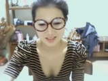 Korean cute girl undressing and masturbates on cam <!-- width=